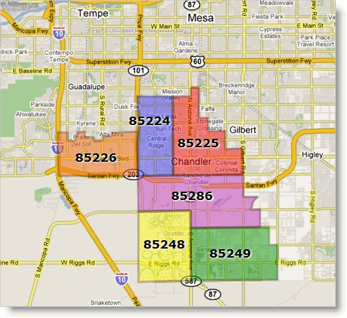 Chandler Az Zip Code Map Rentals in Chandler 3 bedroom 2 bath under $1500 Chandler Az Zip Code Map